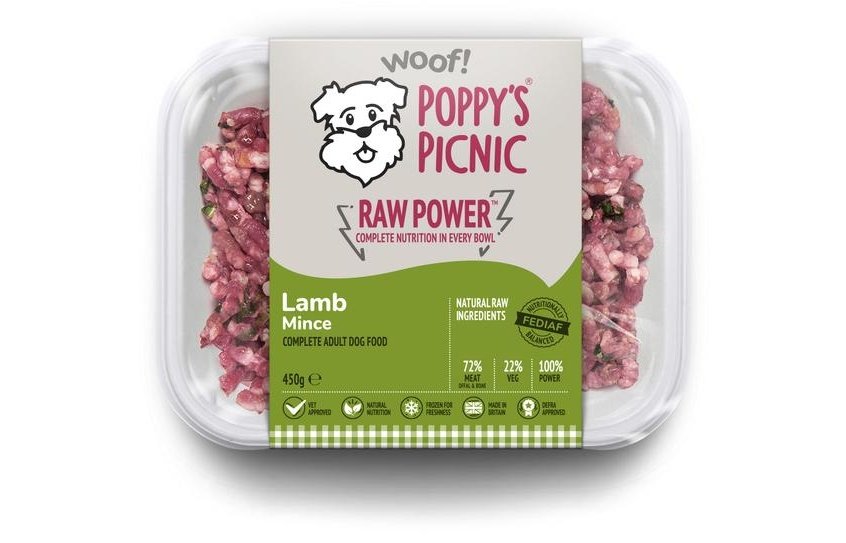 poppy's raw power lamb mince