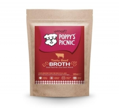 poppy's tasty beef broth 500ml