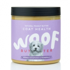 woof peanut butter for dogs - coat health