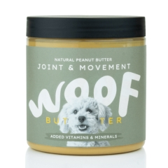 woof peanut butter for dogs - joint & movement