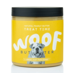 woof peanut butter for dogs - treat time
