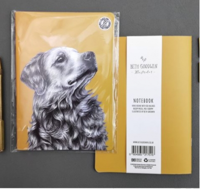 golden retriever notebook